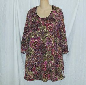 Catherine's Easy Fit Tee Colorful Tunic Size 4X